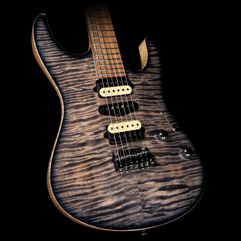 Suhr select modern carve top curly maple and white