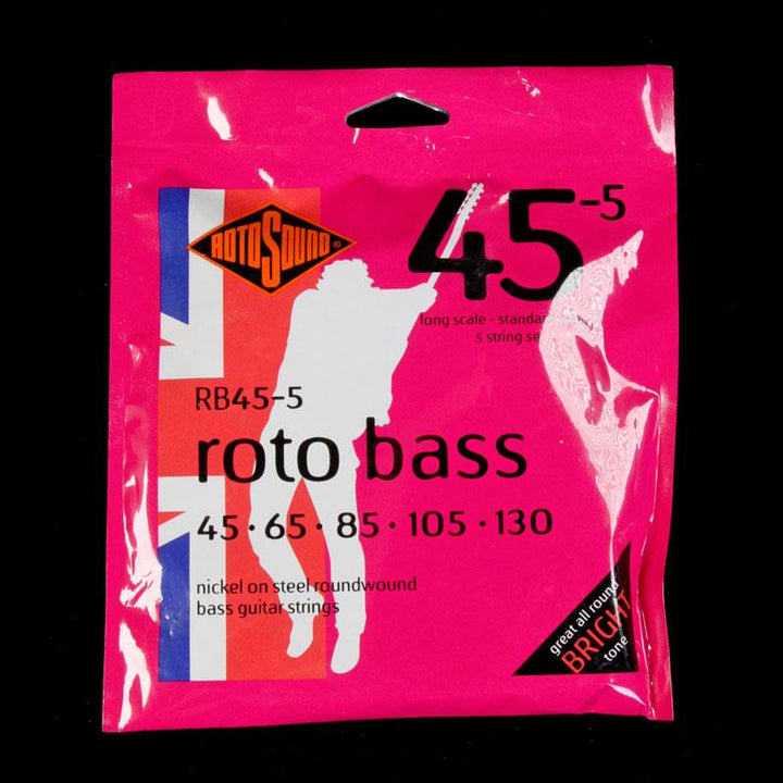 Rotosound RB45-5 Roto 5-String Electric Bass Guitar Strings 45-130 RB45-5