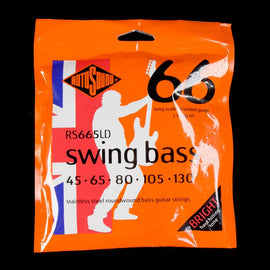 Rotosound RS665LD Swing Bass 66 Stainless Steel Electric Bass Guitar Strings 45-130