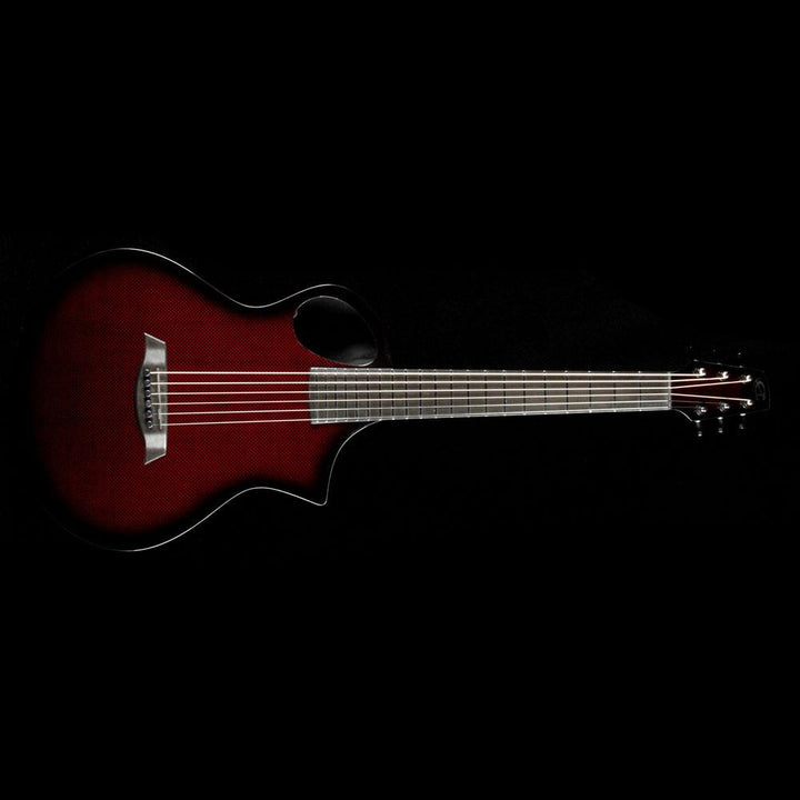 Composite Acoustics The Cargo Acoustic Guitar High Gloss Transparent Red Burst 03027250