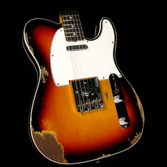 Fender Custom Shop 1960s Telecaster Custom Relic Roasted Alder Electric Guitar 3-Tone Sunburst
