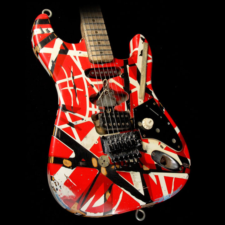 EVH Limited Frankenstein Replica Electric Guitar Frankenstein Stripe 31292 On Neck Plate - 61071