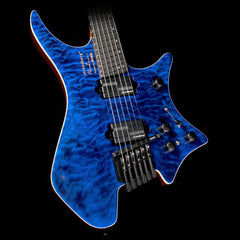 Used 2017 Boss / Strandberg V-BDN Boden Electric V-Guitar Blue