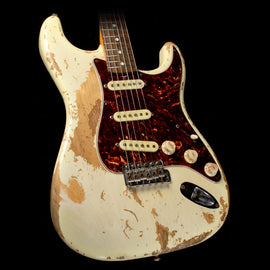 Fender Custom Shop Jason Smith Masterbuilt 1961 Stratocaster Heavy Relic Electric Guitar 2009 White Blonde
