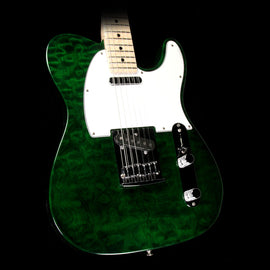 Used Fender Custom Shop Custom Deluxe Telecaster Emerald Green Transparent