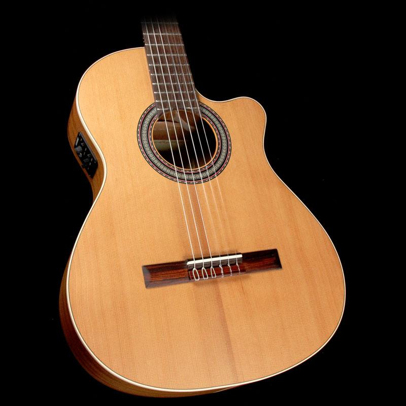 Alhambra Open Pore Collection OP1 Cutaway Classical Nylon String Acoustic Guitar Natural 1OP-CW-EZ