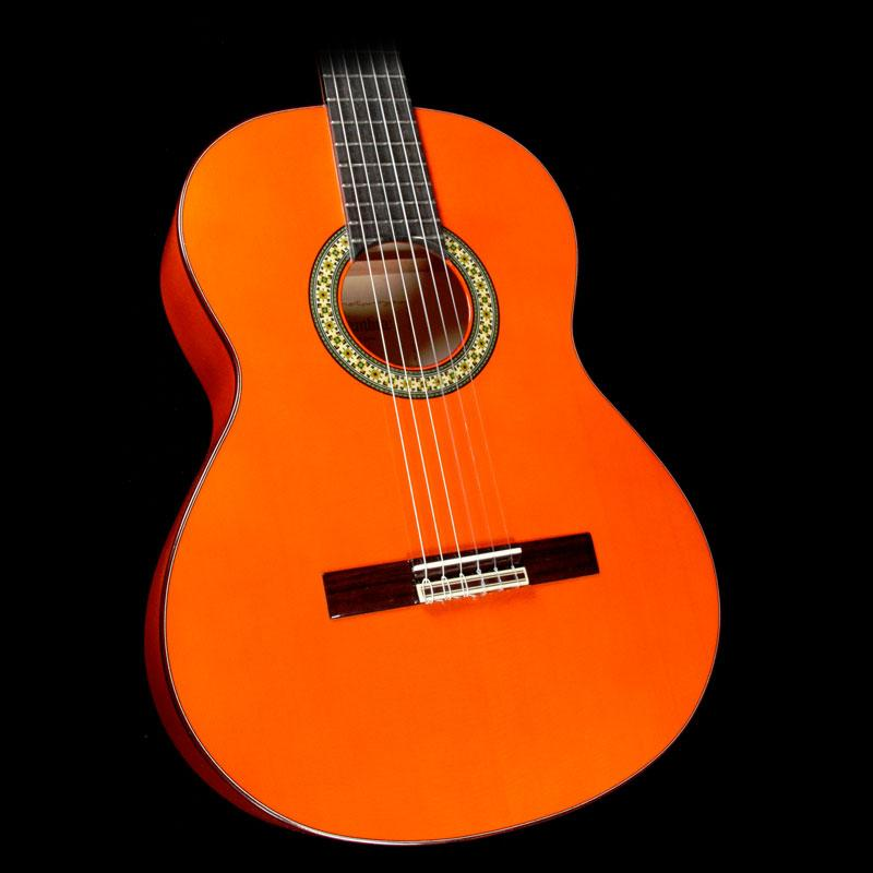 Alhambra 4F Flamenco Nylon String Acoustic Guitar Orange 4F-US