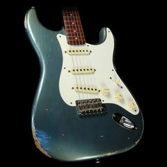 Used 2017 Fender Custom Dual Mag Stratocaster Relic Electric Guitar Aged LP Blue