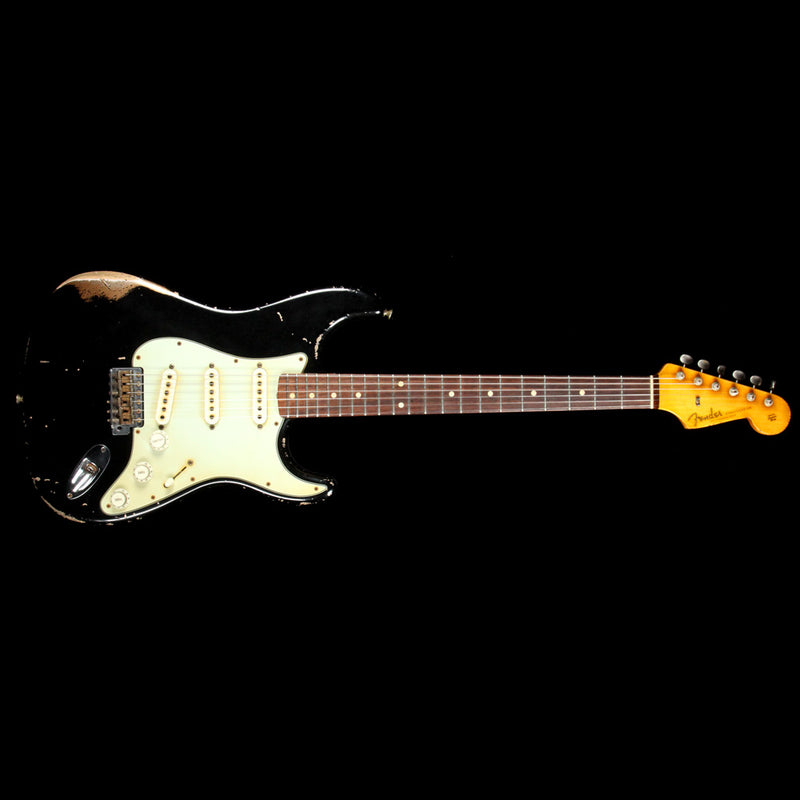 Fender Custom Shop John Cruz Masterbuilt 1960 Stratocaster Heavy Relic Electric Guitar Black over Fire Mist Gold JC2533