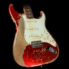 Used Fender Custom Shop Masterbuilt Jason Smith '64 Stratocaster Ultimate Relic Electric Guitar Candy Apple Red