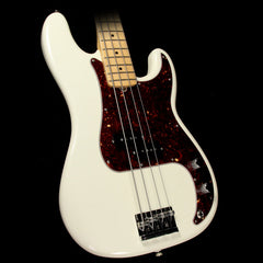 Used Fender American Standard Precision Bass Guitar 2015 Olympic White