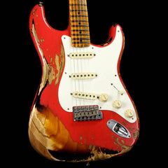 Fender Custom Shop '57 Stratocaster Heavy Relic Fiesta Red over 2-Tone Sunburst Finish