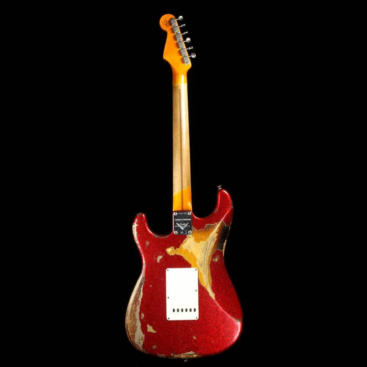 Fender Custom Shop '57 Stratocaster Heavy Relic Red Sparkle Over 2-Tone Sunburst CZ537407