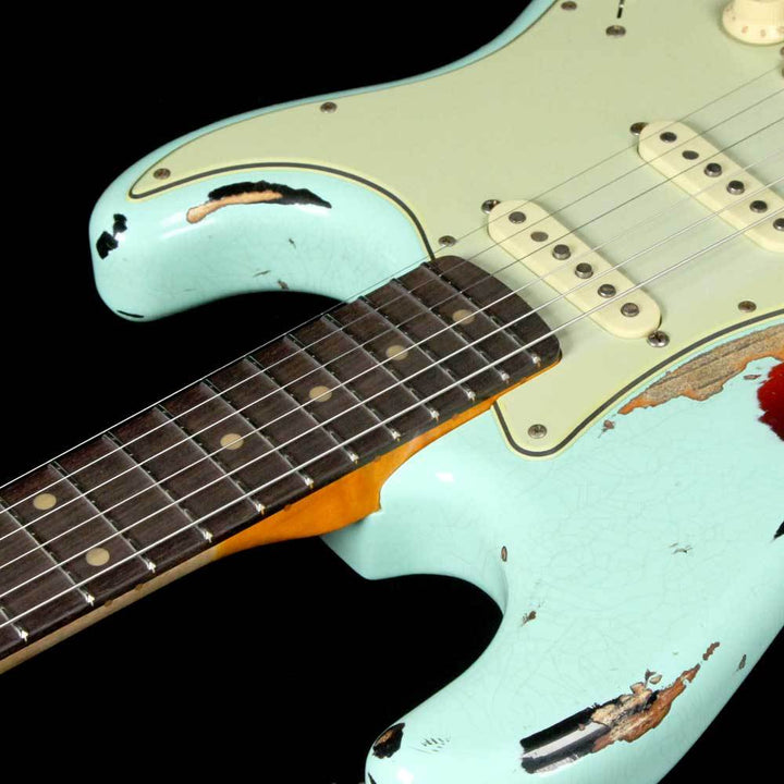 Fender Custom Shop '62 Stratocaster Heavy Relic Surf Green Over 3-Tone Sunburst CZ539319