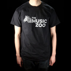 The Music Zoo Zebra Logo T-Shirt Men's Short Sleeve Black