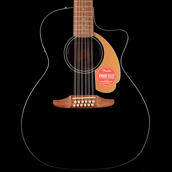 Fender California Player Villager SCE 12 String Acoustic-Electric Black 0970753006