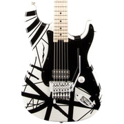 EVH Striped Series White with Black Stripes