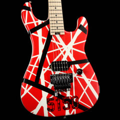 EVH Striped Series 5150 Striped Red Black and White