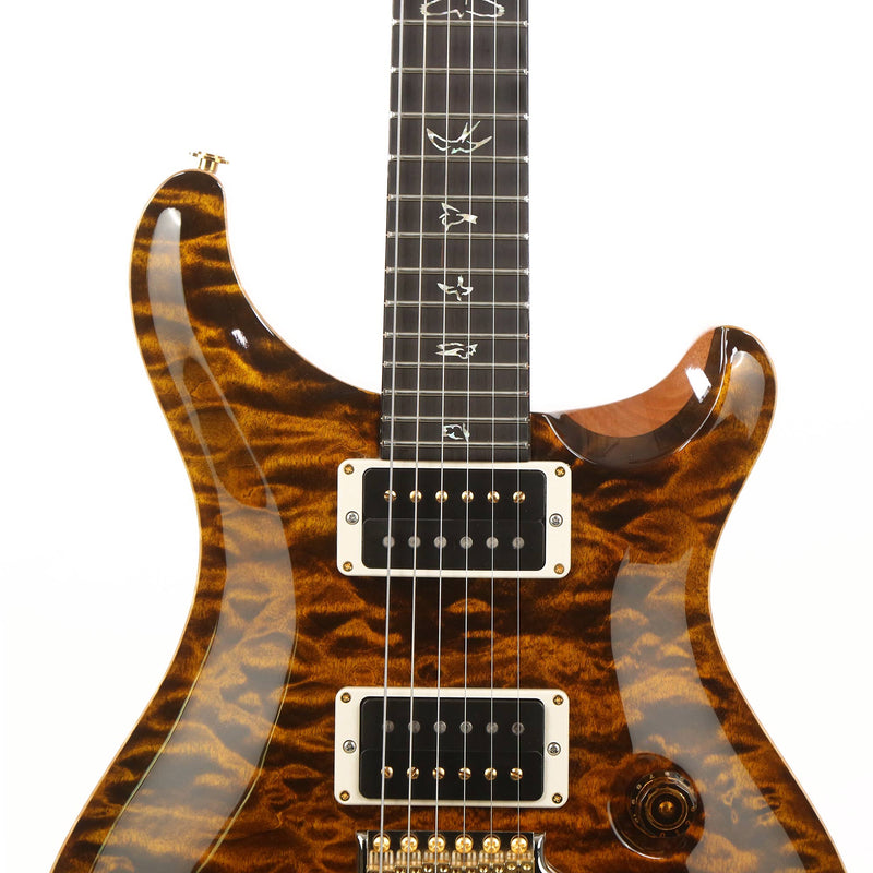 PRS Custom 24 Wood Library Artist Grade Quilt Maple Top Yellow Tiger 0285051