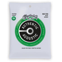 Martin Authentic Acoustic Marquis Silked 80/20 Bronze Acoustic Strings (Extra Light 10-47)