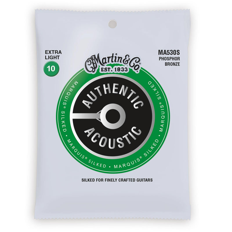 Martin Authentic Acoustic Marquis Silked Phosphor Bronze Acoustic Strings (Extra Light 10-47) 41Y18MA530S
