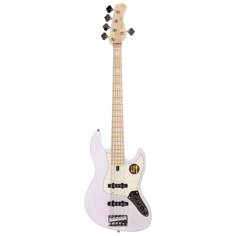 Sire Guitars Marcus Miller V7 Vintage Swamp Ash 5-String Bass 2nd Generation White Blonde