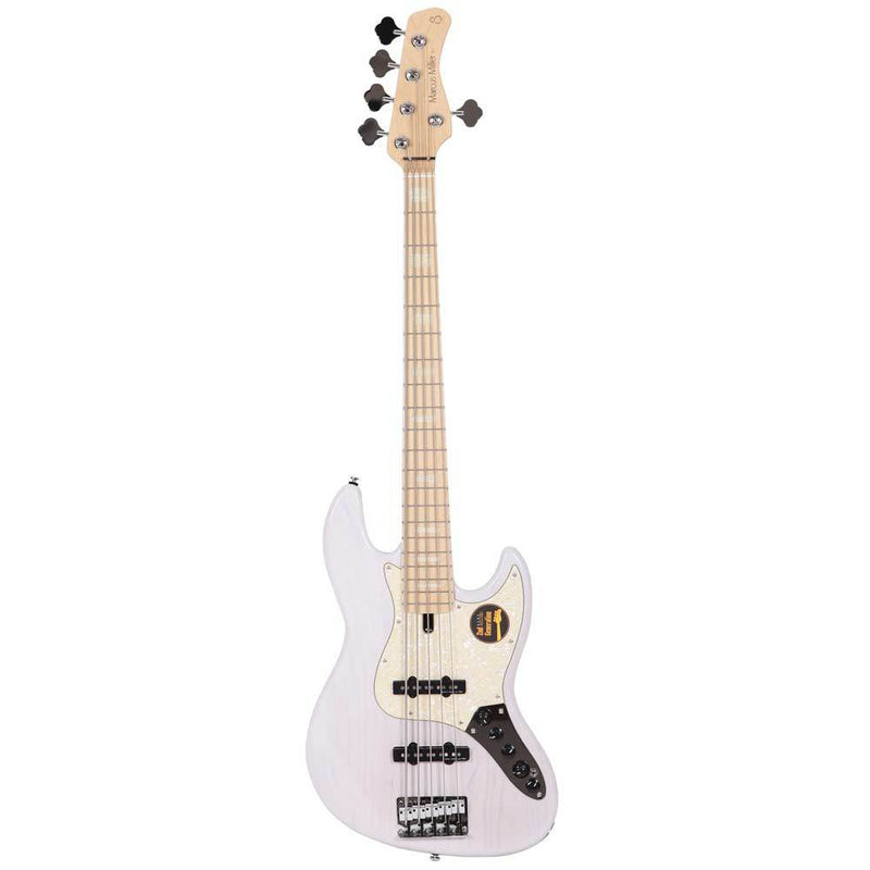 Sire Guitars Marcus Miller V7 Swamp Ash 5-String Bass 2nd Generation White Blonde