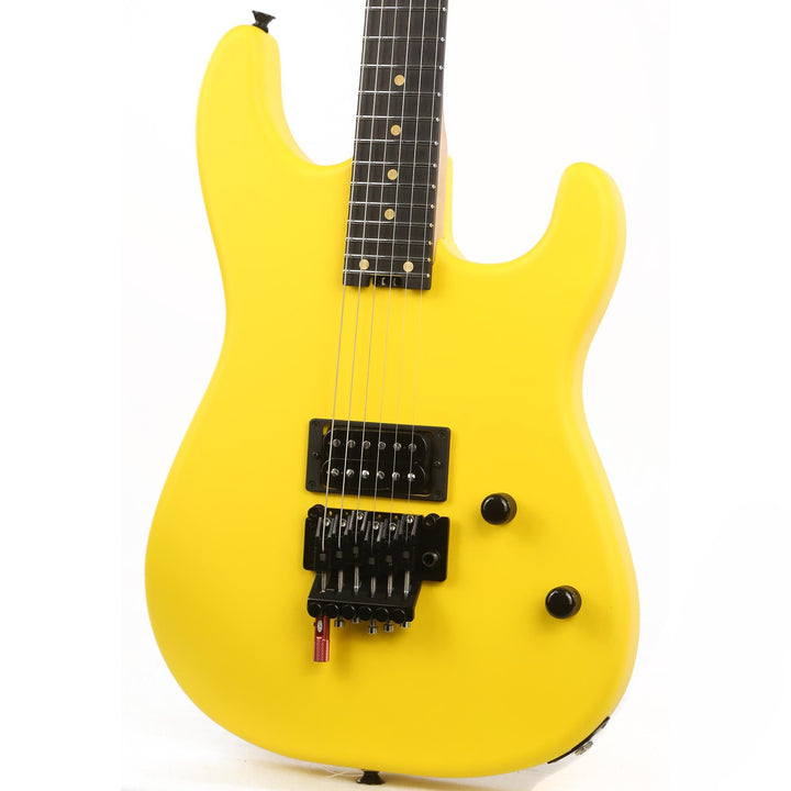 Charvel Custom Shop FU-Tone Loaded San Dimas Satin Frost Yellow Music Zoo Exclusive C11720