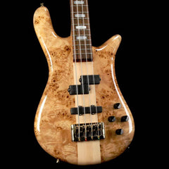 Spector Euro4 LX Electric Bass Natural Poplar Burl