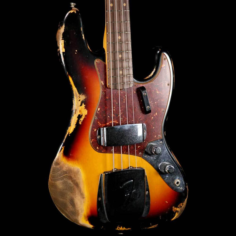 Fender Custom Shop  '61 Jazz Bass 2019 Heavy Relic 3-Tone Sunburst CZ536766