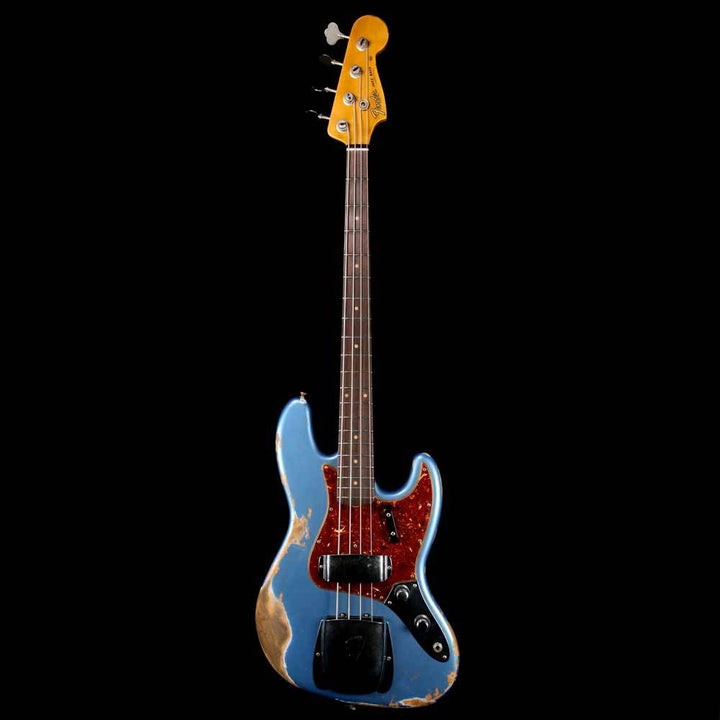 Fender Custom Shop '61 Jazz Bass 2019 Heavy Relic Aged Lake Placid Blue CZ536674