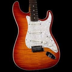 Fender Custom Shop Custom Deluxe Top Bound Slab Body Stratocaster Tobacco Sunburst 2014