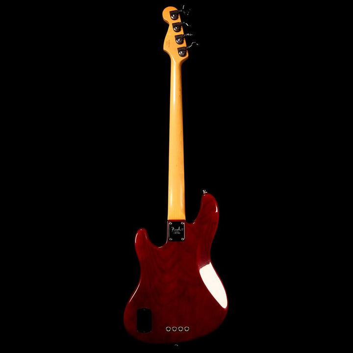 Fender American Deluxe Jazz Bass Transparent Red 1998 DN807736