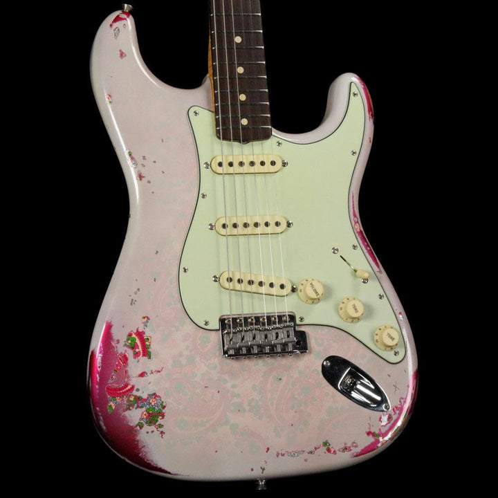Fender Custom Wildwood 10 '61 Stratocaster Aged White Blonde over Pink Paisley 2016 R85122