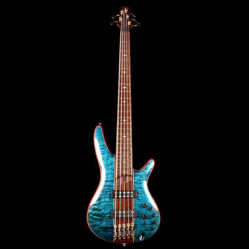 Ibanez Premium SR2405W 5-String Bass Caribbean Green Low Gloss