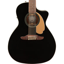 Fender California Player Series Villager 12-String Acoustic-Electric Black