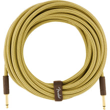 Fender Deluxe Series Instrument Cable 25 Feet Straight Tweed