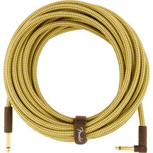 Fender Deluxe Series Instrument Cable 25 Feet Angled Tweed