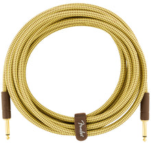 Fender Deluxe Series Instrument Cable 15 Feet Straight Tweed