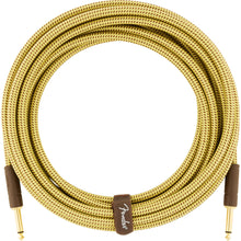 Fender Deluxe Series Instrument Cable 10 Feet Straight Tweed