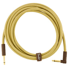 Fender Deluxe Series Instrument Cable 10 Feet Angled Tweed