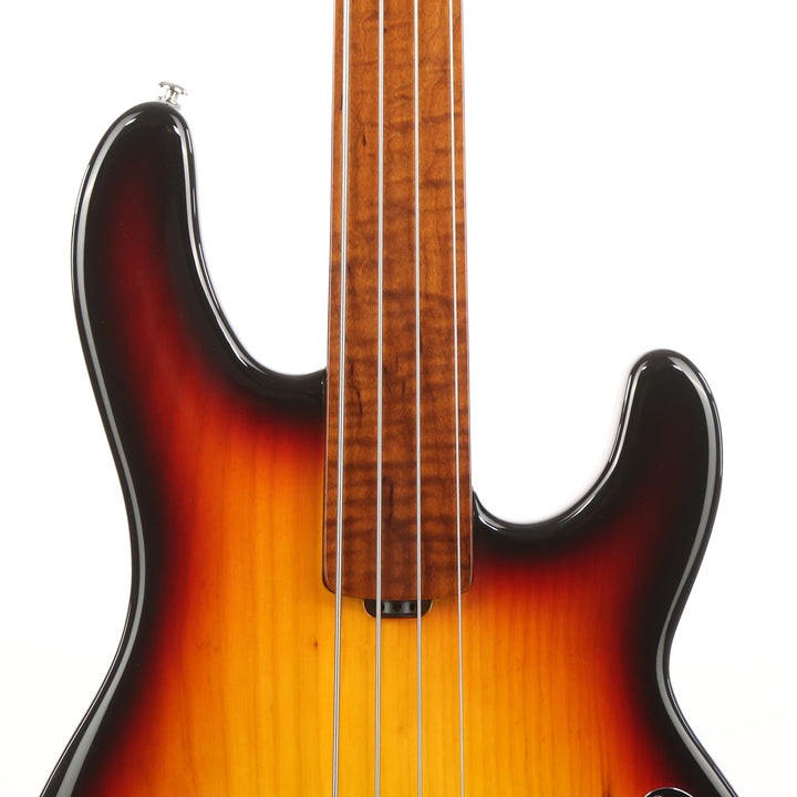 Ernie Ball Music Man StingRay 4 Special H Fretless Sierra Burst Sunburst F77606