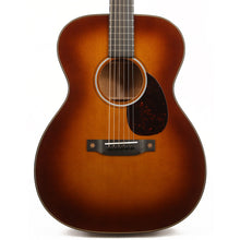 Martin Custom Shop Style 18 OM Acoustic Sitka Spruce and Flamed Mahogany Ambertone