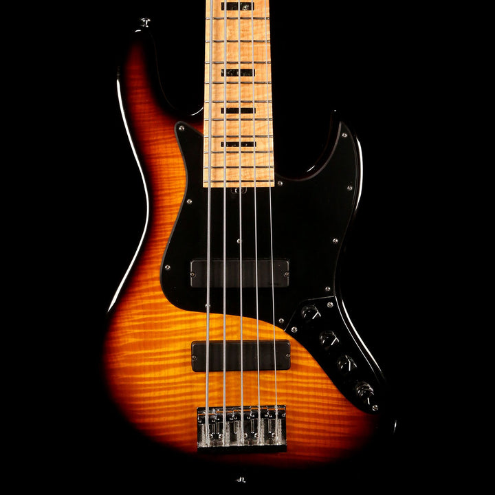 Sadowsky 21 Fret NYC 5-String Bass Flame Maple Top Sunburst 6618