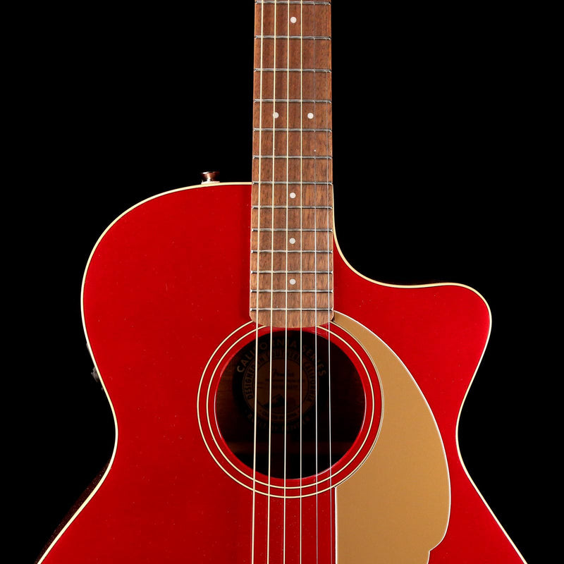 Fender California Series Newporter Player Acoustic-Electric Candy Apple Red 0970743009