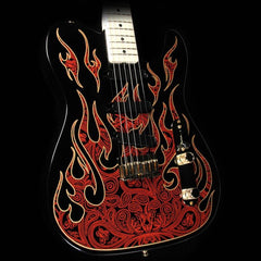 Fender Artist Series James Burton Telecaster Electric Guitar Red Paisley Flames