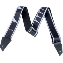 Jackson Guitar Strap with Sharkfin Inlay Pattern Black and White