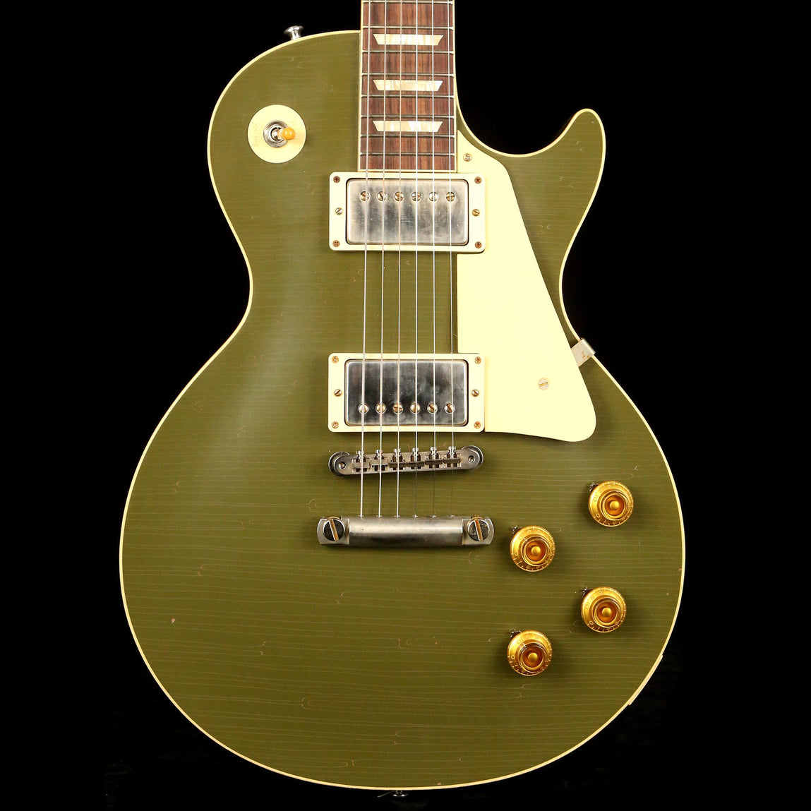 Gibson Custom Shop 1958 Les Paul Reissue Lightly Aged Olive Drab Made 2  Measure #89708