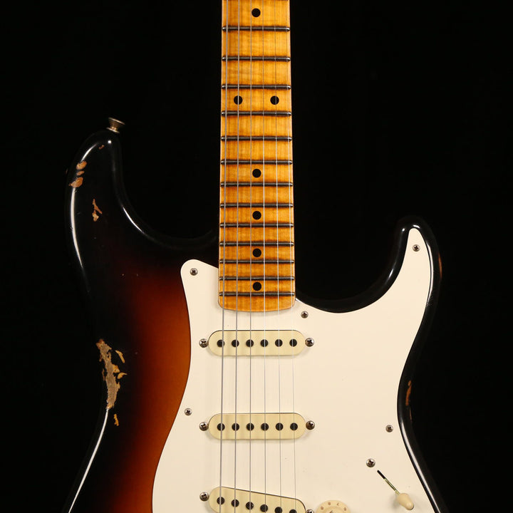 Fender Custom Shop LTD 1958 Stratocaster Relic Super Faded Aged 3-Tone Sunburst 2018 CZ538614