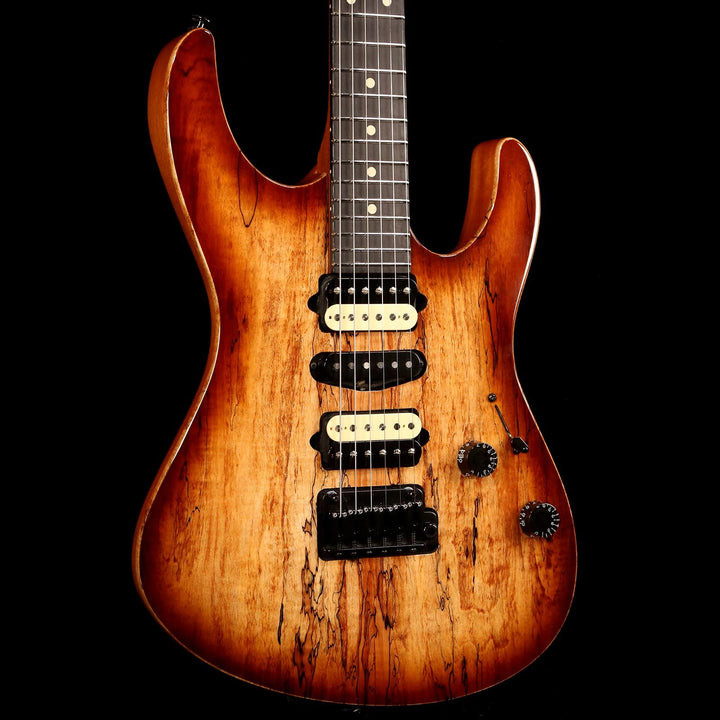 Suhr Modern Spalted Maple Top Brown Burst 2018 JS4N2G